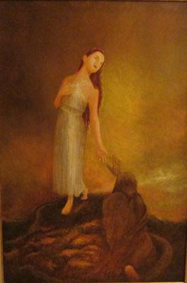 La diosa – Óleo sobre lienzo – 84x57