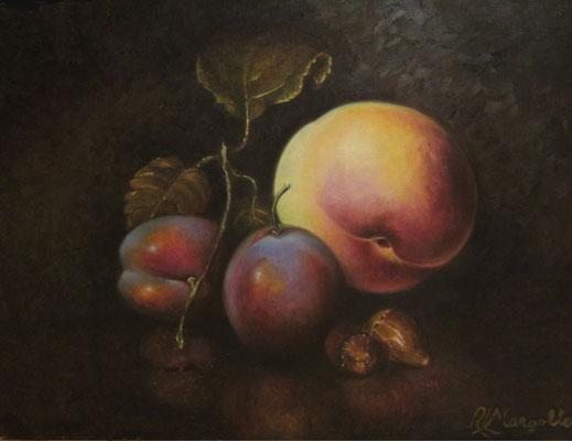 Bellotas y algo más - Óleo sobre lienzo - 33x46