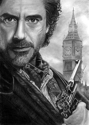 Sherlock Holmes  - Grafito - 21x30
