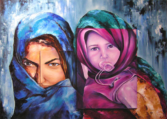 Una cultura, una mirada  - Óleo sobre lienzo – 130 x 97