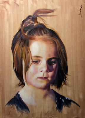 Retrato de Adri - óleo sobre tela encolada a tabla - 30x40
