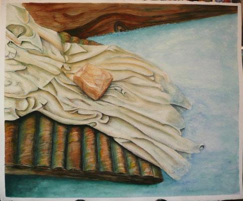La colada – Acuarela en papel Guarro – 61x50