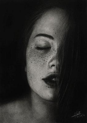 Intimidad - Grafito y Carbón - 21x30