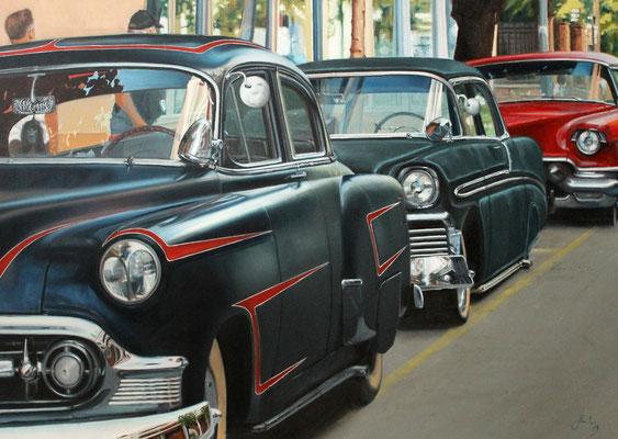 3 coches - Óleo sobre lienzo - 73x92