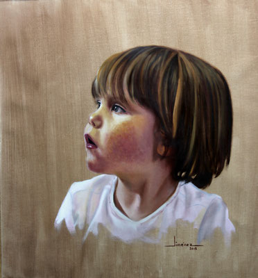 Retrato Sara - óleo sobre tela encolada a tabla - 30x40