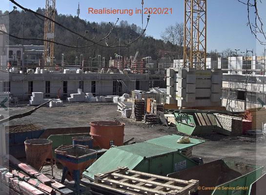 Umsetzung und Verkauf der Apartments ein Jahr später in 2020/21