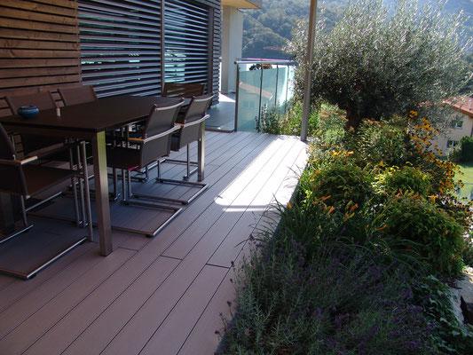 Terrassenkonstruktion in Tessin, Lugano