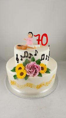 Omas  Geburtstagstorte Renates Torten Design
