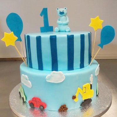 Kindertorte blau @ Renates Torten Design