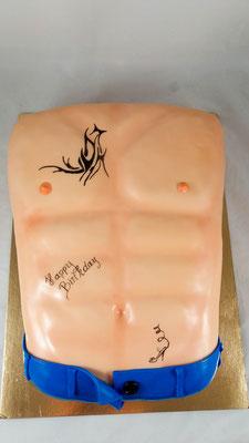 Männerbrust  Geburtstagstorte Renates Torten Design