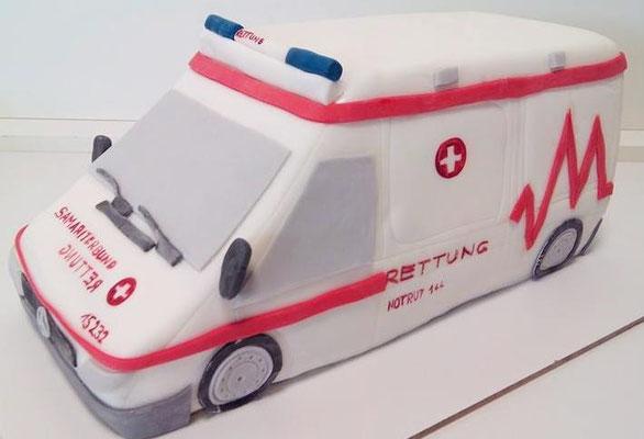 Rettungswagen Torte @ Renates Torten Design