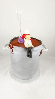 Kochtopf  Geburtstagstorte Renates Torten Design
