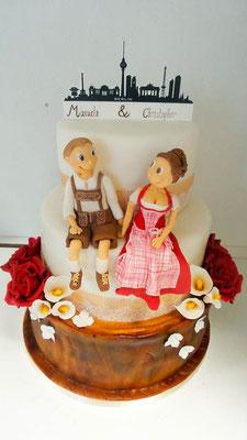 Hochzeitstorte Rustikal Dirndl Renates Torten Design