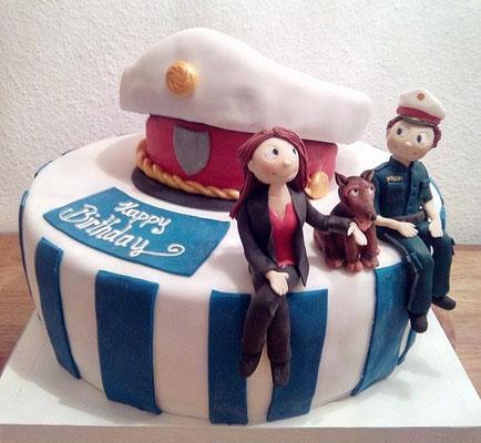 Geburtstagstorte Polizei @ Renates Torten Design
