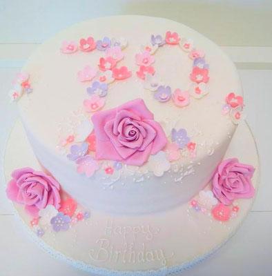 Geburtstagstorte Rosen @ Renates Torten Design