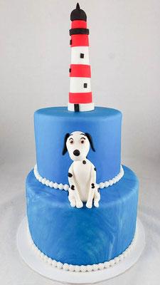 Leuchturm  Geburtstagstorte Renates Torten Design