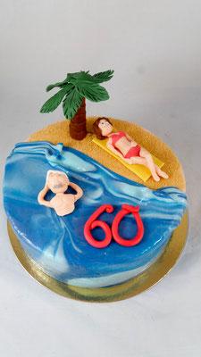 Urlaub  Geburtstagstorte Renates Torten Design