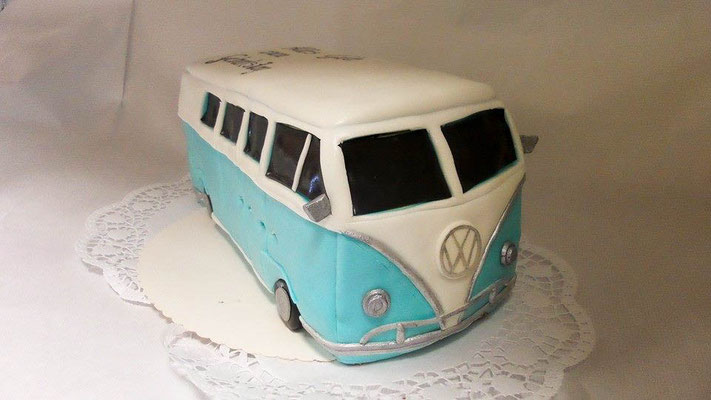 Geburtstagstorte VW Bus @ Renates Torten Design