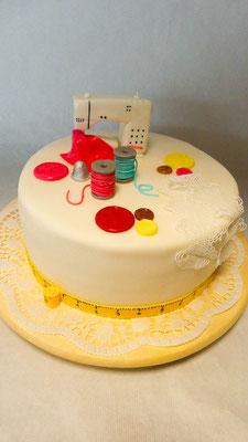 Nähmaschiene Kuchen @ Renates Tortren Design