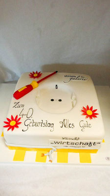 Geburtstagstorte Elektriker @ Renates Torten Design