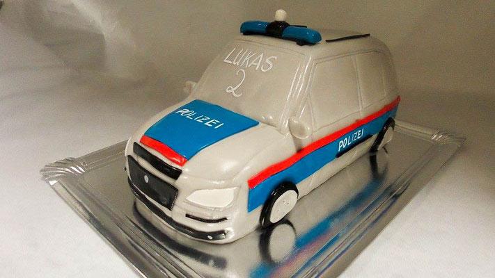 Motivtorte Polizeiauto @ Renates Torten Design