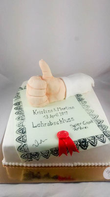 Prüfung bestanden  Geburtstagstorte Renates Torten Design