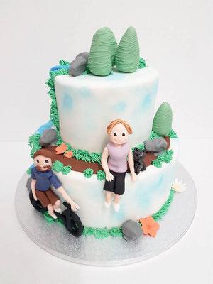 Wandern  Geburtstagstorte Renates Torten Design