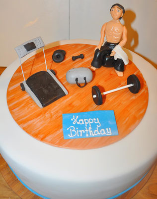 Geburtstagstorte Bodybuilding @ Renates Torten Design
