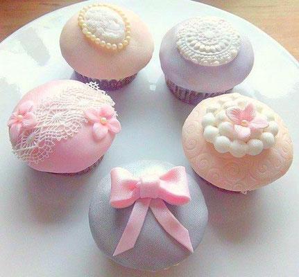 Cupcakes Vintage Hochzeit @ Renates Torten Design