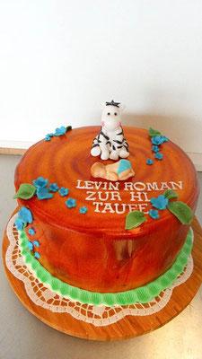 Tauftorte Zebra @ Renates Torten Design