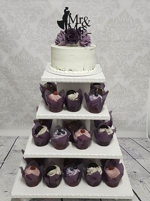 Hochzeitstorte Cupcaketower