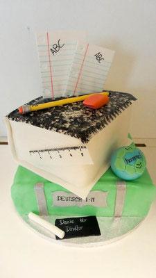 Geburtstagstorte Bücher @ Renates Torten Design