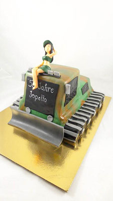 Pistenraupe Torte Renates Torten Design