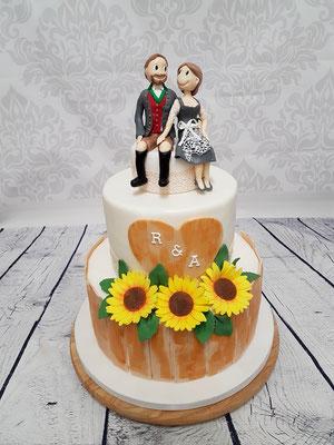 Sonnenblumen Hochzeitstorte Vorarlberg Renates Torten Design