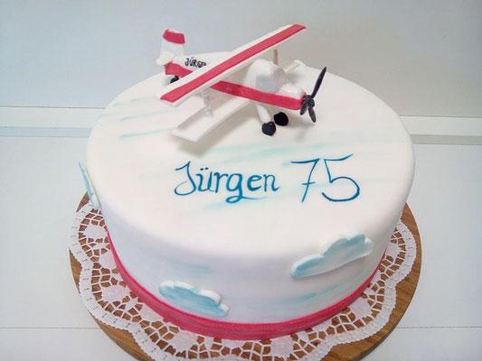 Geburtstagstorte Flugzeug @ Renates Torten Design