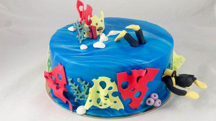 Unterwasser  Geburtstagstorte Renates Torten Design