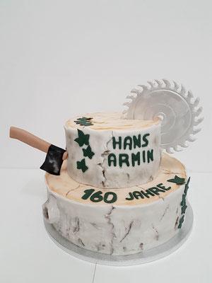 Holzfäller Torte Renates Torten Design Vorarlberg