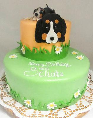 Berner Sen Hund Torte  @ Renates Torten Design
