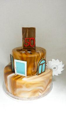 Geburtstagstorte Schreiner @ Renates Torten Design