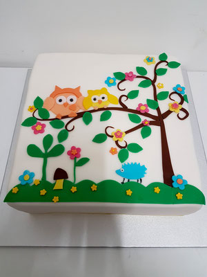 Eulen Kindertorte Renates Torten Design
