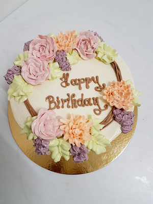 Buttercreme  Geburtstagstorte Renates Torten Design