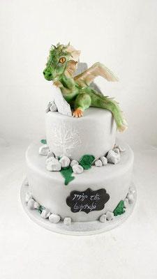 Drachen  Geburtstagstorte Renates Torten Design
