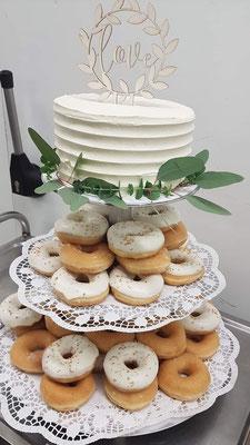Donut-Hochzeitstorte