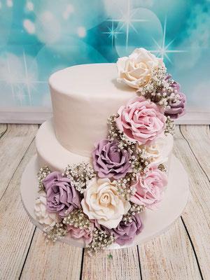 Blumen Hochzeitstorte Vorarlberg Renates Torten Design