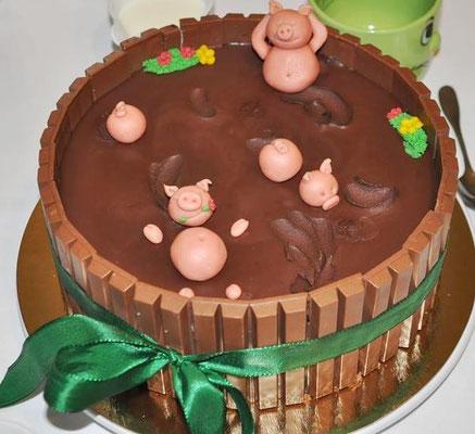 Geburtstagstorte Schweinchen @ Renates Torten Design