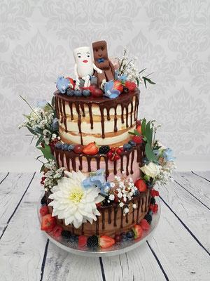 Naked Cake Hochzeitstorte Vorarlberg Renates Torten Design
