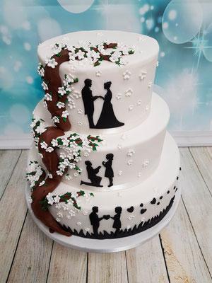 Schatten Hochzeitstorte Vorarlberg Renates Torten Design