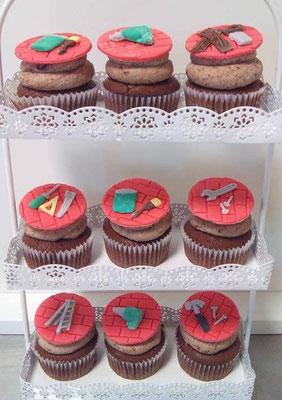 Cup Cakes Handwerker @ Renates Torten Design
