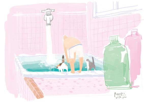 お風呂に飛び込みたい