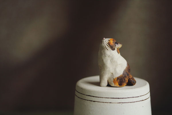 セラミッククレイ立体_猫